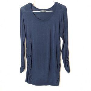 Market & Spruce blue long sleeve top, size medium